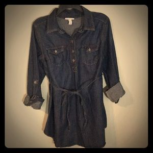 Maternity dark denim tunic